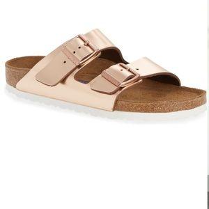 Birkenstock Arizona Soft Footbed Rose Gold Sandals